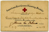 [American Red Cross nurse appointment certificate]