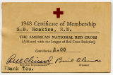 [Membership card for the American Red Cross]