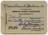 [American Nurses' Association membership card]