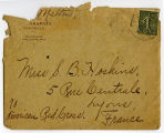 [Envelope addressed to Miss S. B. Hoskins]