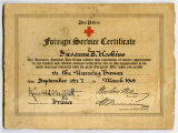 [American Red Cross foreign service certificate]