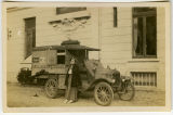 [Susanne B. Hoskins and American Red Cross vehicle]