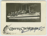 [Christmas postcard of USS Repose]
