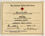 [Red Cross nutrition certificate]