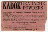 [KADOK headache powder packet]