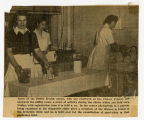 [Newspaper clipping of Jean Payne Rabie at the Cancer Center]