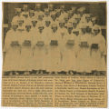 [Newspaper clipping of St. Leo's graduation 1950]