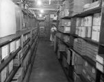 [Wesley Long Hospital stock room]