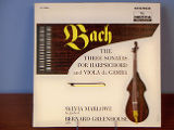 Bach: the three sonatas for harpsichord and viola da gamba [record album cover]