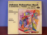 Johann Sebastian Bach: 3 Sonatas for piano and cello [record album cover]