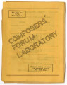 Juilliard School of Music Composers' Forum-Laboratory [program]