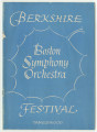 Berkshire Festival Tanglewood : Boston Symphony Orchestra [program]