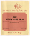 Florida Southern College : The 1982-83 Festival of Fine Arts : the Beaux Arts trio [program]