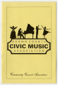 Brown County Civic Music Association [program]