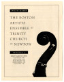 The Boston Artists Ensemble at Trinity Church in Newton program 4