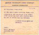 [Telegram to Pablo Casals from Diran Alexanian, Raya Garbousova, Mischa Schneider, and Bernard...