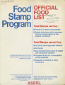 Food Stamp Program : official food list