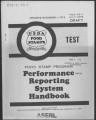 Performance reporting system handbook : food stamp program