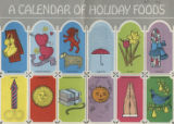 A calendar of holiday foods
