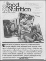 Food & Nutrition [Volume 16, Number 1]