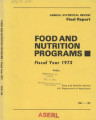 Annual Statistical Review Final Report Food and Nutrition Programs FY 1973
