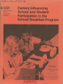 Factors influencing school and student participation in the school breakfast program 1977-78