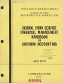 School food service financial management handbook for uniform accounting : simplified system