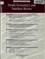 Family Economics and Nutrition Review [Volume 12, Number 2]