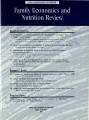 Family Economics and Nutrition Review [Volume 13, Number 2]