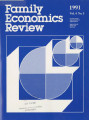 Family Economics Review [1991, Volume 4, Number 3]