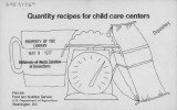Quantity recipes for child care centers