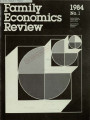 Family Economics Review [1984, Number 1]