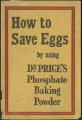 How to save eggs by using Dr Price's phosphate baking powder