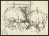 Sketches, Pen and Ink, Marker, 1955-1990s and undated [Maud Gatewood collection]