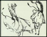 Sketches, Pen and Ink, Marker, 1954-1983 and undated [Maud Gatewood collection]