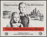 Opportunity for all children - that's what democracy means