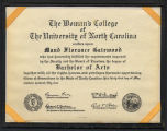 Diploma, Bachelor of Arts, 1954