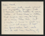 Undated correspondence [Maud Gatewood collection]
