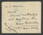 [Letter from Pablo Casals to Susan Metcalfe, Marie-Theresiapolis (Subotica)]