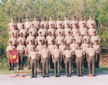 [Group photograph of Marine Aviation Logistics Squadron 36 Advance Course, circa 1999]