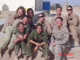 [Gail S. Horn and others in Al Taqqadum, Iraq, 2004]