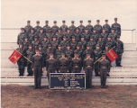 [Group photograph of United States Marine Corps. Platoon 4004, 4th Recruit Battalion, Parris...