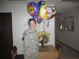 [Nicolle M. Brossard on her return from deployment]