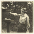 [Jane Brister at pistol range, circa 1952]