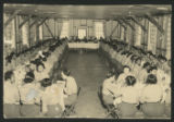[Photo post card depicting African American WAACs or WACs in a mess hall, circa 1942-1945]