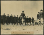 [Offical United States Army Signal Corps photograph of African American WAACs marching, circa 1942]