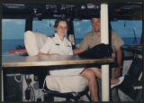 [Lieutenant Commander Sally Ann Weeks Benson onboard the USS Kitty Hawk, 1994]