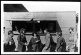 [Mary Haynsworth Mathews serving troops from a clubmobile, 1945]