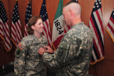[Photograph of promotion cermony for Melissa Culbeth]