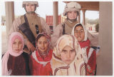 [Jeannie Marie Franz with local Iraqi girls, circa 2007-2008]
